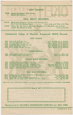 [Okeh Electric Records Catalog 1934]