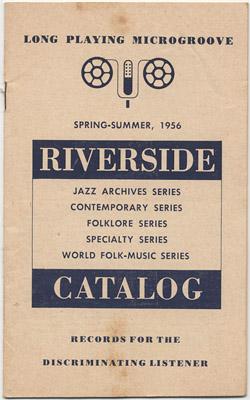 [Riverside Records Catalog Spring-Summer 1956]
