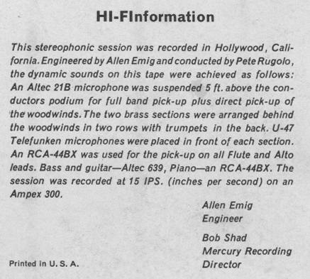 [Hi-FInformation on Mercury SR-60118]