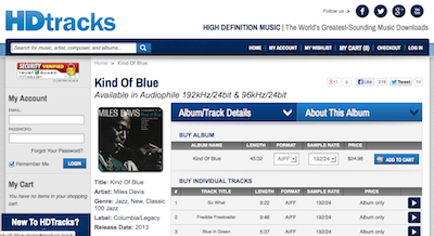 [Kind Of Blue, Remastered 2013, on HDtracks]