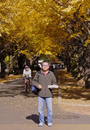 [Michael Yee at the Hikarigaoka Park, Nerima, Tokyo]