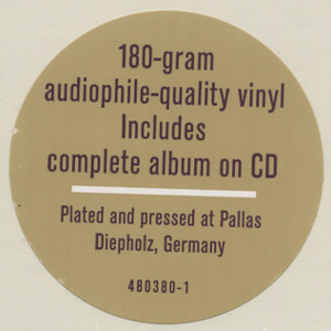 [Sticker on Nonsuch 480380-1 double LP album]