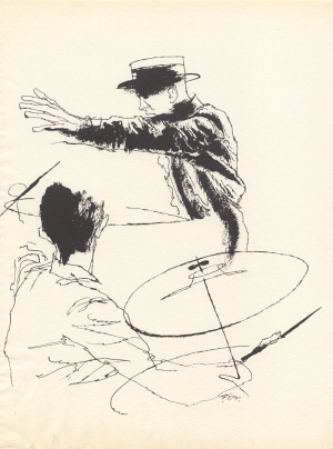 [Fred Astaire drawing by David Stone Martin]