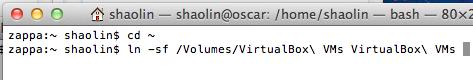 [Symlinking VM directory]