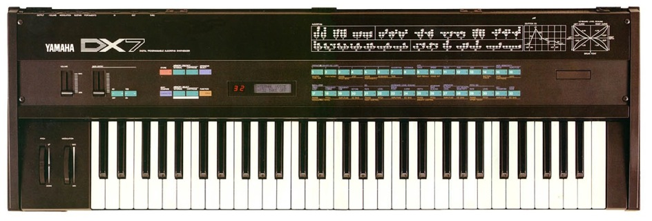 YAMAHA DX7 (from Wikimedia Commons. Public Domain)