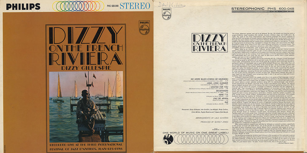 Dizzy on the French Riviera (Philips PHS 600-048, 1962)