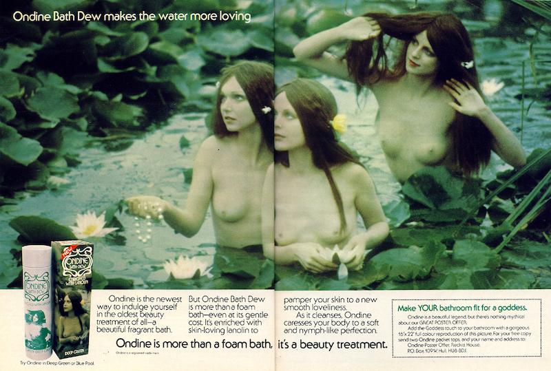 Ondine Bath Dew Advert 1975